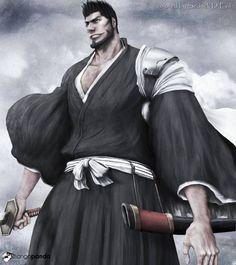 Isshin Kurosaki, Ichigo's father, former Captain of the 10th Squad