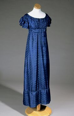 Phebe Caroline Jones wore this blue brocade empire gown around the time of her 1824 marriage to Samuel Finley Patterson, a prominent politician and railroad executive. Jones grew up on Palmyra Plantation in Wilkes (present-day Caldwell) County, the daughter of a War of 1812 commander and granddaughter of a Revolutionary War leader. She and her husband inherited Palmyra after her father's death.  #TextileTuesday