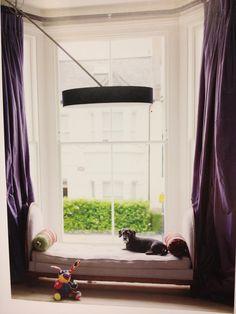 Window seat + curtains