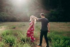 sunset engagement photography, kelowna bc, carefree, motion, moments