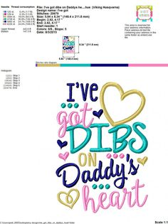 Embroidery design 5x7 6x10 I've got DIBS on by SoCuteAppliques