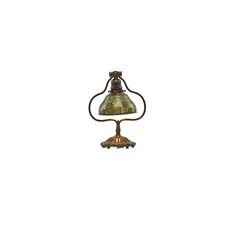 """Grapevine desk lamp with adjustable blown-out shade, New York, 1900s Patinated bronze, blown glass, single socket Stamped TIFFANY STUDIOS NEW YORK 419 12 1/2"""" x 9"""". TIFFANY STUDIOS 