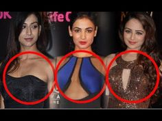 "Bollywood Actresses Flaunts Their CLEAVAGE at ""Big Life Ok Now Awards 2014"""