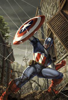 Captain America by Caio Cacau