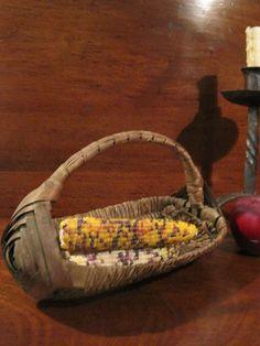 Antique 1800's New England MINIATURE Sweet Grass & Ash Woven Cradle Basket AAFA #NaivePrimitive Sold North Bayshore Antiques $175.00