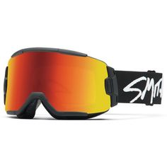 Smith Squad Interchangeable Goggles with Bonus Lens Black/Red Sol X Mirror/Yellow Snowboarding Gear, Ski Gear, Smith Optics, Red Sole, Winter Sports, Back Strap, Sports Equipment, Shopping Hacks, Will Smith