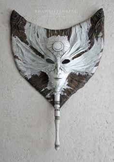 Надежда Шахристенберг (nadinepau) Полнолуние - интерьрная маска, коллекционная маска