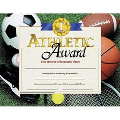 :Our Diplomas, Certificates and Awards are x in size with beautiful, authentic designs printed in full color on high quality paper. Order now so you won't be disappointed later. Athletic Award (Set of by HAYES SCHOOL PUBLISHING. Award Certificates, Certificate Templates, Hard Work And Dedication, All Schools, Teaching Materials, Paper Gifts, Print Design, Awards, Place Card Holders