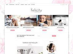 WordPress Theme Responsive-Felicity by Georgia Lou Studios on @creativemarket