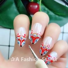 Nail Art✰A Fashion Star nail Star Nail Designs, New Nail Art Design, Cool Nail Designs, Star Nail Art, Star Nails, Nail Swag, Fashion Star, Fox Nails, Fingernails Painted