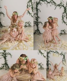 indianapolis indy glitter mini session mommy and me floral photography flower petals flower crowns sweet plum photography