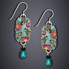 Summer Bees Earrings by Dawn Estrin (Silver Earrings)