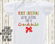 Christmas Pregnancy announcement idea ONESIE ® by The1stYearBaby