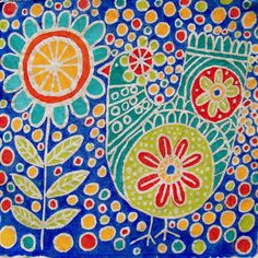 candice ashment art: ArtPalooza week- day 5 - Simple Batiking {tutorial} - on canvas
