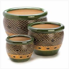 $69.95 - Lush shades of sand and jade add natural elegance to your favorite plants, showing them off to stunning effect!