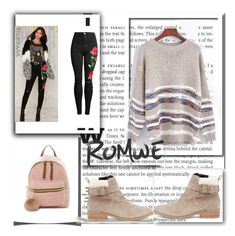 """romwe contest"" by anna-mors ❤ liked on Polyvore featuring T-shirt & Jeans and Sole Society"