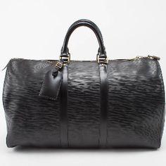 Louis Vuitton- Keepall In Black Epi
