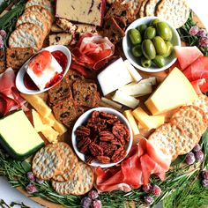 Sugared Cranberries, Candied Pecans, Tzatziki, Mini Aperitivos, Jalapeno Jelly, Spanish Olives, Block Of Cheese, Christmas Cheese, Mini Appetizers