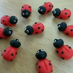 Cute little #ladybirds to decorate your #greetingcards and #crafts #gardens #fairy #fairygarden #fairytale #summer #spring #miniatures