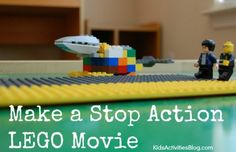 Stop Action: {Easy} Movie Making with LEGOs - Kids Activities Blog (Collaboration w Salil and Kurt - music video plus vis art stop motion?)