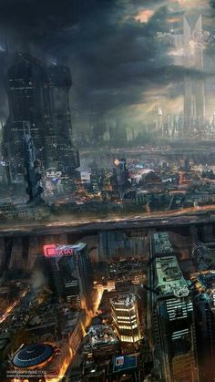 Tagged with art, storytime, cyberpunk, scienceandtechnology; Cyberpunk City, Ville Cyberpunk, Cyberpunk Kunst, Cyberpunk Aesthetic, Futuristic City, Fantasy World, Fantasy Art, Sci Fi Stadt, Science Fiction Kunst