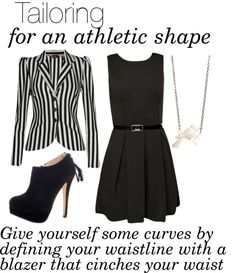 """""""Tailoring for an Athletic Shape"""" by boohoofashion ❤ liked on Polyvore"""