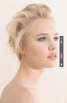 Bilderesultat for wedding makeup blonde hair blue eyes