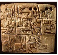 Sumerian Tablet 3100-2900 BC Clay tablet