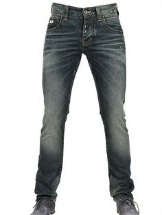 ARMANI JEANS* Low Waist Denim Slim Leg Jeans Mens