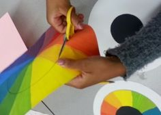 5th graders created color wheel eyeballs!         First students labeled and colored a worksheet identifying the proper organization of a c...
