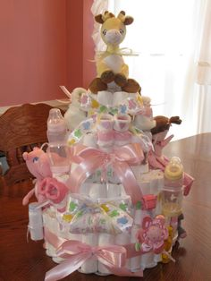 Image result for diaper cakes for baby showers