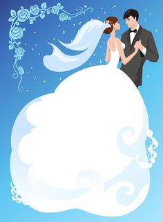 Wedding Images, Wedding Pictures, Wedding Cards, Couple Clipart, Bride And Groom Silhouette, Wedding Drawing, Silhouette Cameo, Diy Wedding Decorations, Love Is Sweet