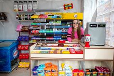 The Corner Shop - by London-based Artist, Lucy Sparrow.  She used Kickstarter to create this art installation featuring 4000 hand sewn felt products, all available for purchase online (cash register is also made out of felt :)