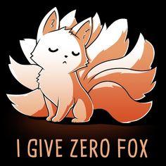 I Give Zero Fox t-shirt TeeTurtle
