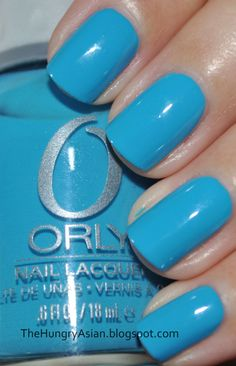 New nail color for my birthday... Orly 'Blue Collar'.  After not doing my fingernails with ANY polish for probably at least 5 years, I LOVE this stuff!