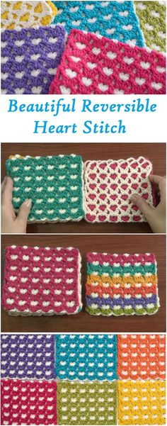 reversible heart stitch tutorial very easy and beautiful