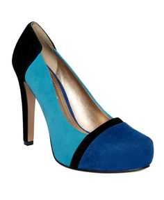 i almost bought these the other day but i didn't feel like splurging.  BCBGeneration color block pumps.  $77