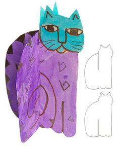 Art Projects for Kids: 3D Laurel Burch Cat