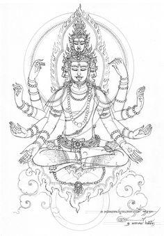 บ้านศิลป์อัมรินทร์ รับออกแบบ แกะบล็อกพระ ปั้นพระบูชา และให้คำปรึกษาการสร้างวัตถุมงคล   พลังจิต Thailand Tattoo, Thailand Art, Korean Art, Asian Art, Buddhism Tattoo, Hanuman Tattoo, Buddha Tattoo Design, Tibet Art, Sak Yant Tattoo