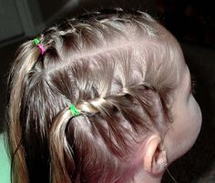 Shaunell's Hair: Little Girl's Hairstyles -French Twist Braids and Bun 15-20 Min