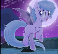 Snowdust,seeming shy and quiet,this fluttershy like pony is not what she appears to be,she has a twisted evil side that will completely take over her mind,all us bat ponys call it chaos made and only a select few have it