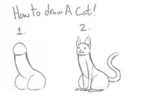 How to draw a cat.  very important life skill here.