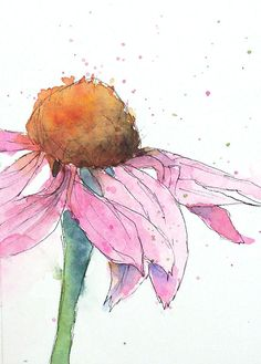 My art journey with collage and watermedia ~ Patricia Henderson Watercolor Pictures, Watercolor And Ink, Watercolor Flowers, Watercolor Painting Techniques, Painting & Drawing, Watercolor Paintings, Watercolors, Art Aquarelle, Art Inspo