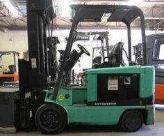 2006 Mitsubishi FBC30K EE Rated Quad Mast Electric Forklift