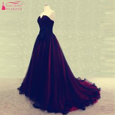 Find More Prom Dresses Information about black and Red elegant Prom Dresses Heartbreak Long Organza evening Dresses simple Formal gowns   Z1117,High Quality Prom Dresses from Tanya Bridal Store on Aliexpress.com