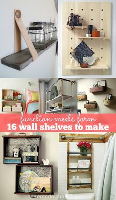 16 DIY Wall Shelves -- beautiful and functional wall decor!