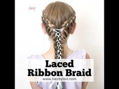 Laced Ribbon Braid - Hair by Lori Lob Haircut, Lob Hairstyle, Cute Hairstyles, Braided Hairstyles, Hairstyle Ideas, Ribbon Hairstyle, Ribbon Braids, Braid Hair, Rachel Hair