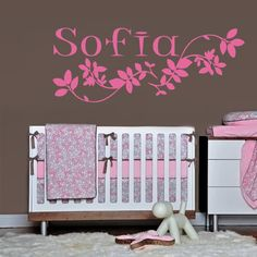 Wall decal decor decals art Sofia name by DecorWallDecals on Etsy, $28.99