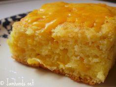 Cornbread Supreme - A cross between classic cornbread, corn casserole, and cheese.