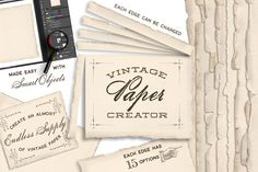 Vintage Paper Creator by Eclectic Anthology on @creativemarket